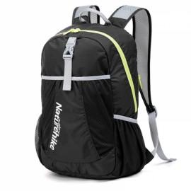 NatureHike Folding Backpacks Outdoor Ultralight Portable Hiking Travel Waterproof Backpack Black