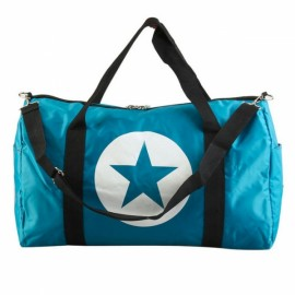 Large Capacity Waterproof Five-Pointed Star Pattern Nylon Travel Bag Sky Blue S
