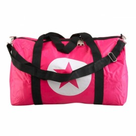 Large Capacity Waterproof Five-Pointed Star Pattern Nylon Travel Bag Peach Red S