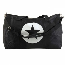 Large Capacity Waterproof Five-Pointed Star Pattern Nylon Travel Bag Black S