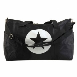 Large Capacity Waterproof Five-Pointed Star Pattern Nylon Travel Bag Black L