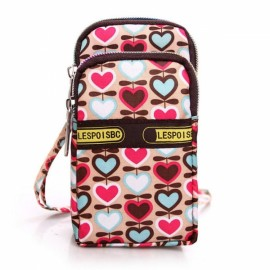 Mini Fashion Pattern Zipper Sport Shoulder Bag Wrist Bag Love