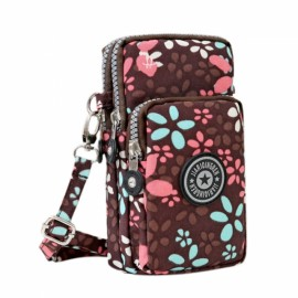Multifunctional Three Layers Storage Bag Phone Bag Handbag Wrist Bag Small Petals