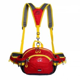 Multifunctional Unisex Waterproof Nylon Crossbody Sport Waist Pack Backpack Pouch Bag Red