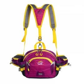 Multifunctional Unisex Waterproof Nylon Crossbody Sport Waist Pack Backpack Pouch Bag Purple