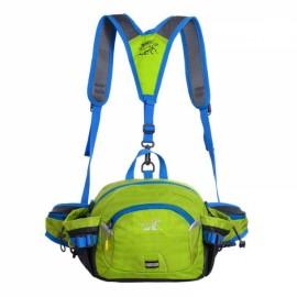 Multifunctional Unisex Waterproof Nylon Crossbody Sport Waist Pack Backpack Pouch Bag Green
