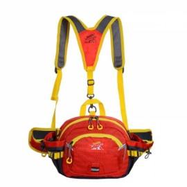 Multifunctional Unisex Waterproof Nylon Crossbody Sport Waist Pack Backpack Pouch Bag Orange