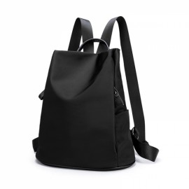Backpack For Women Coofit School Supplies Waterproof Oxford Shoulder Bag - Black