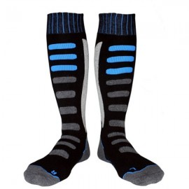 Thick Cotton Socks Towel Bottom Warm Stockings Outdoor Sport Ski Socks 809 Black & Blue XL