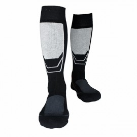 Thick Cotton Socks Towel Bottom Warm Stockings Outdoor Sport Ski Socks 810 Black & Gray XL