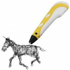 First Generation 3D Printing Pen with ABS Filament Yellow
