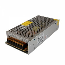 12V DC 15A Regulated Switching Power Supply Silver