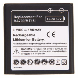 1500mAh Battery for Sony BA700 MT15i