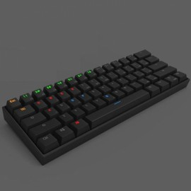Anne PRO 60% RGB Wireless Bluetooth Mechanical Gaming Keyboard Red Switch Black