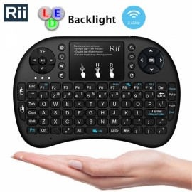 Rii i8+ 2.4GHz Mini Backlight Wireless Keyboard with Touchpad Black