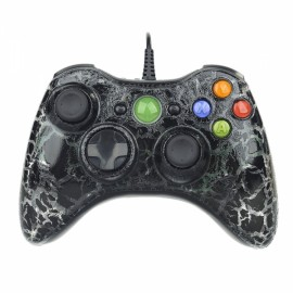 USB Wired Game Controller Joystick Gamepad for Xbox 360 Black
