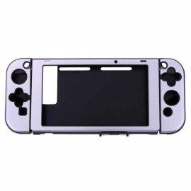 Aluminum+Plastic Anti-scratch Dustproof Hard Back Protective Case Cover Shells for Nintendo Switch NS Console with Joy-Con Controller - Silver