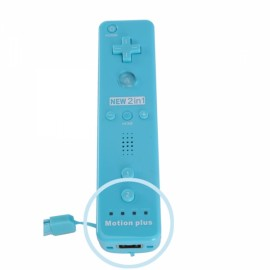 Remote Controller with Built in Motion Plus for Wii / Wii U Light Blue