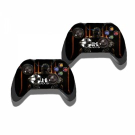 Call of Duty Black Ops Pattern Decal Sticker Set for Xbox One Console & Controllers