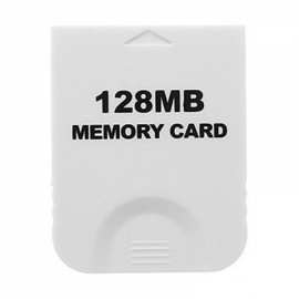 128MB Memory Card for Nintendo GameCube White