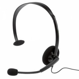 Live Headset With Microphone for Xbox 360 Black