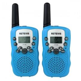 1Pair Retevis RT-388 Walkie Talkies UHF 0.5W 22CH Flashlight Two-Way Radio for Kids Children - Blue