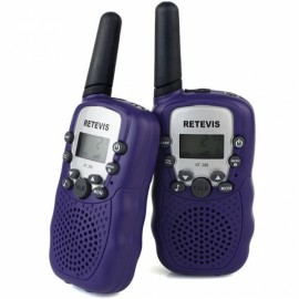 1Pair Retevis RT-388 Walkie Talkies UHF 0.5W 22CH Flashlight Two-Way Radio for Kids Children - Bluish Violet