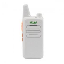 WLN KD-C1 UHF 400-470 MHz Transceiver Two Way  Walkie Talkie - White