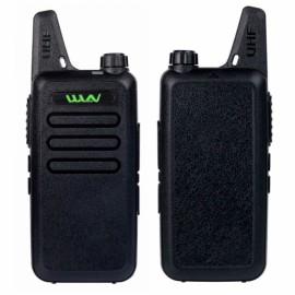 WLN KD-C1 UHF 400-470 MHz Transceiver Two Way  Walkie Talkie - Black