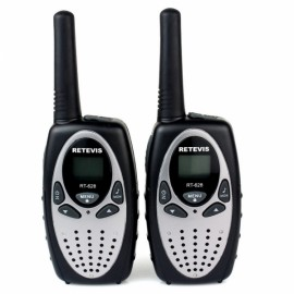 2pcs Retevis RT628 Walkie Talkie UHF 22CH Two-Way Radio-Silver