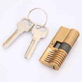 7AB Pins Cutaway Brass Both End Padlock Quick Open Practice Lock Key Locksmith