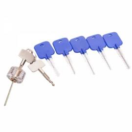 AML20036 Lock Cylinder Model 5-Piece Set + AML20189 Transparent Practice Cross Lock