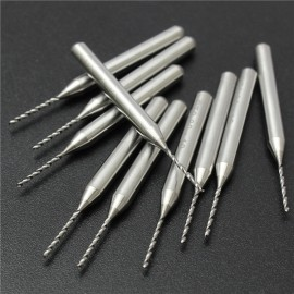 10pcs 0.3-1.2mm Tungsten Steel PCB Print Carving Drill Bit