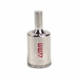 22mm Diamond Coated Drill Bit Hole Saw Kit Glass Cutter Tip Silver