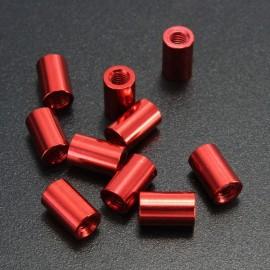 10pcs M3 x 5mm Round Aluminum Alloy Nut Studs Standoffs Fastener