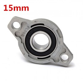 15mm Inner Diameter Zinc Alloy Pillow Block Flange Bearing KFL002