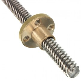 300mm T8 Lead Screw 8mm Thread with Brass Nut for 3D Printer