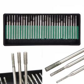 30pcs 3.0mm Diamond Coated Drill Bits Millers Metal Rotary Tools
