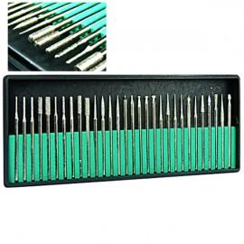 30pcs 2.35mm Diamond Coated Drill Bit Set Metal Burs Tools