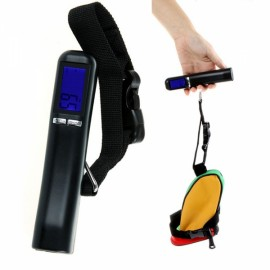 40kg x 10g Portable Hanging Handheld Backlight LCD Display Digital Electronic Luggage Scale for Travel Black