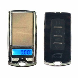 100g/0.01g Car Key Mini Pocket Jewelry Scale Black