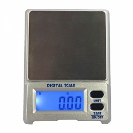 "DS-18 100g / 0.01g 1.5"" LCD Precision Pocket Electronic Jewelry Scale Silver Gray"