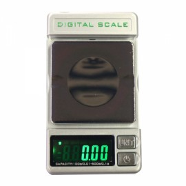 DS-28 100g/0.01g 500g/0.1g Dual Range/Accuracy Mini Electronic Jewelry Scale Gray