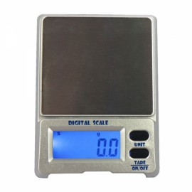 "DS-18 500g / 0.1g 1.5"" LCD Precision Pocket Electronic Jewelry Scale Silver Gray"