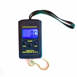 40kg/80lb Portable Backlit LCD Digital Scale for Fishing Luggage Weighing