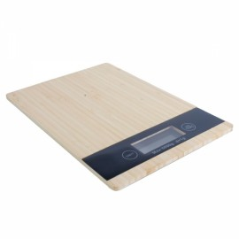 5kg/1g Eco Friendly Bamboo Digital Electronic Kitchen Weighing Scale Bamboo Color