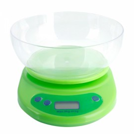 Digital Food Scale and Multifunction Kitchen Weight Scale with Removable Bowl 5KG/1G Green