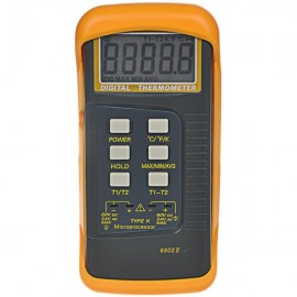K-Type Digital Industrial Thermometer with Sensor Black