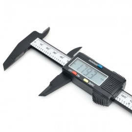 "1.6"" LCD 150mm Carbon Fiber Digital Caliper Gray"