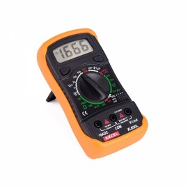 "XL8301 1.75"" LCD Handheld Digital Multimeter with 9V Battery Green Backlight Black & Orange"